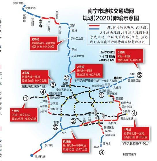 南宁地铁线路新规划,地铁线路规划的原则